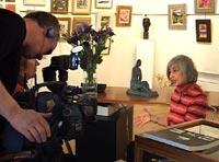 filming Alma Wolfson being interviewed